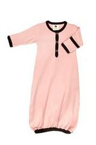KATE QUINN PINK SACQUE CHOCOLATE DETAILS Organic Baby Clothes